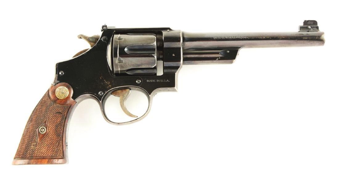 (C) Pre-War S&W .38-44 Outdoorsman Target Revolver.
