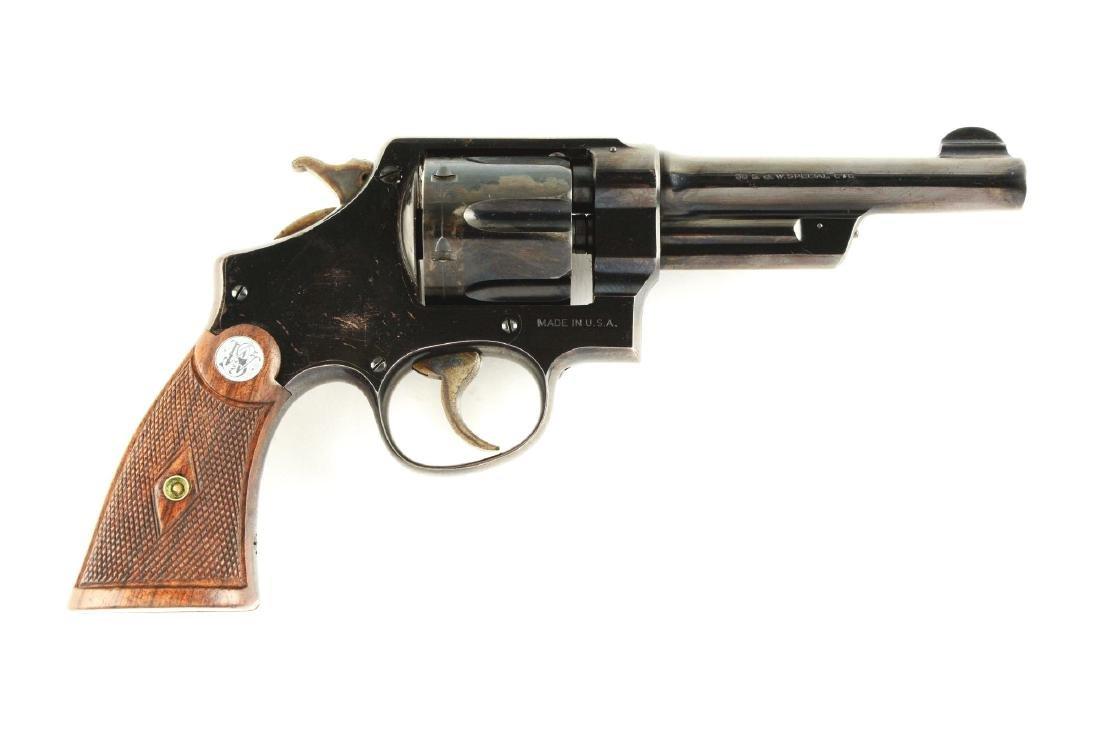 (C) Pre-War S&W .38-44 Heavy Duty Revolver.