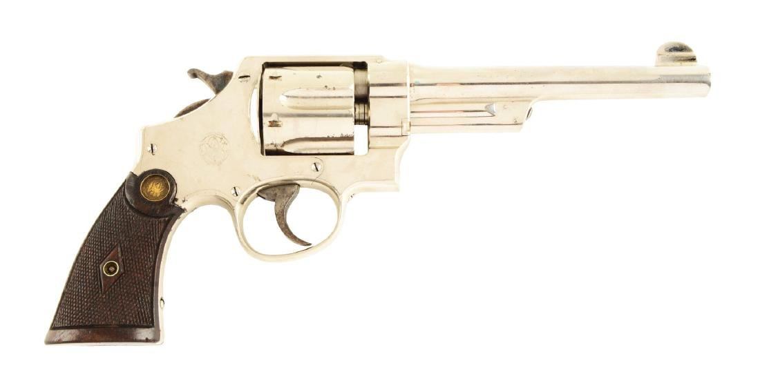 (C) Nickle S&W Triple Lock Revolver.