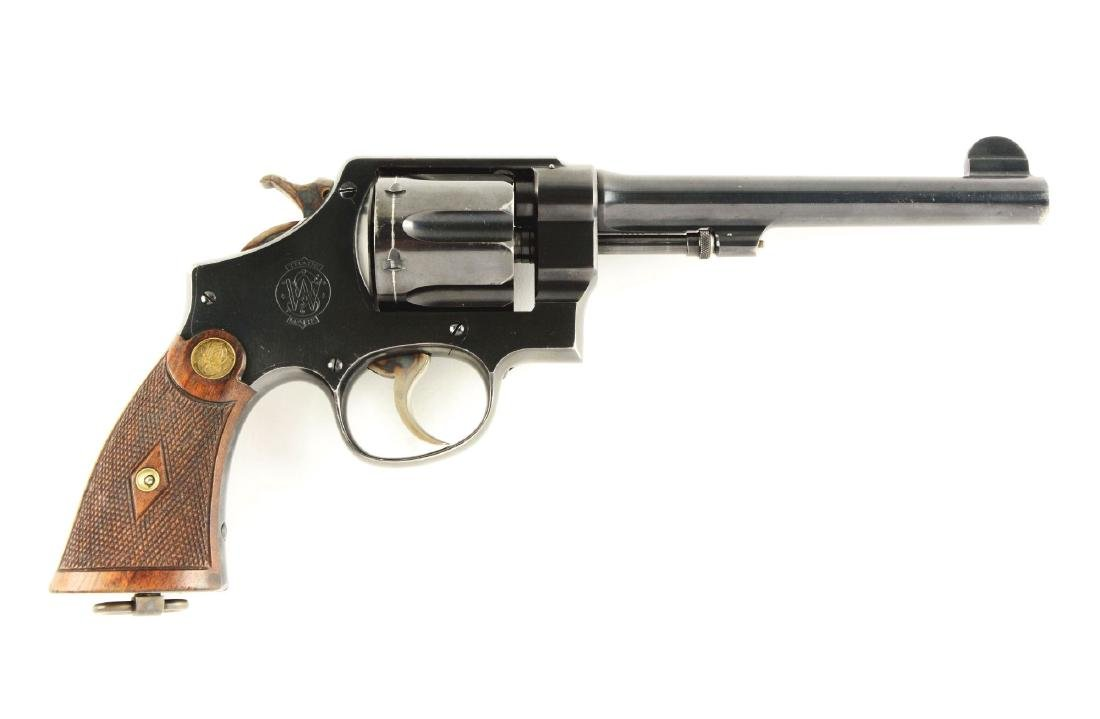 (C) S&W Hand Ejector Double Action Revolver (.455).