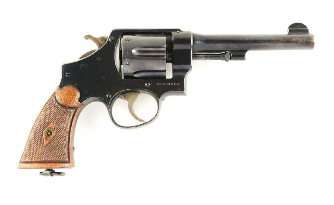 (C) S&W Model 1917 Commercial Revolver.