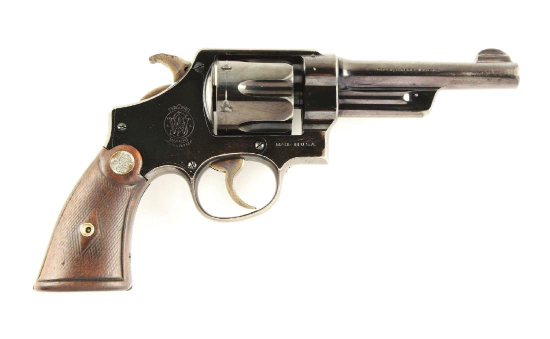 (C) Pre-War S&W .38-44 Heavy Duty Revolver (Denver