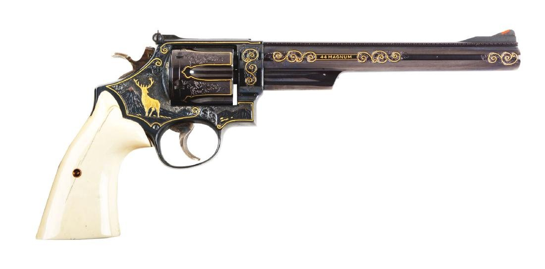 (M) Engraved & Inlaid S&W Model 29-2 Double Action