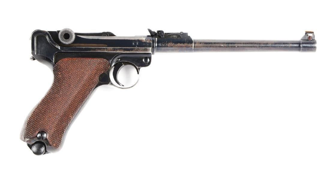 (C) 1917 DWM Artillery Luger Semi-Automatic Pistol.