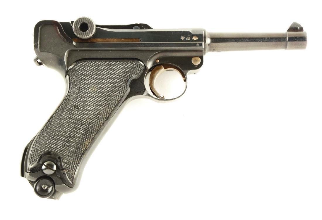 (C) Krieghoff 1944 Date Luger Semi-Automatic Pistol.
