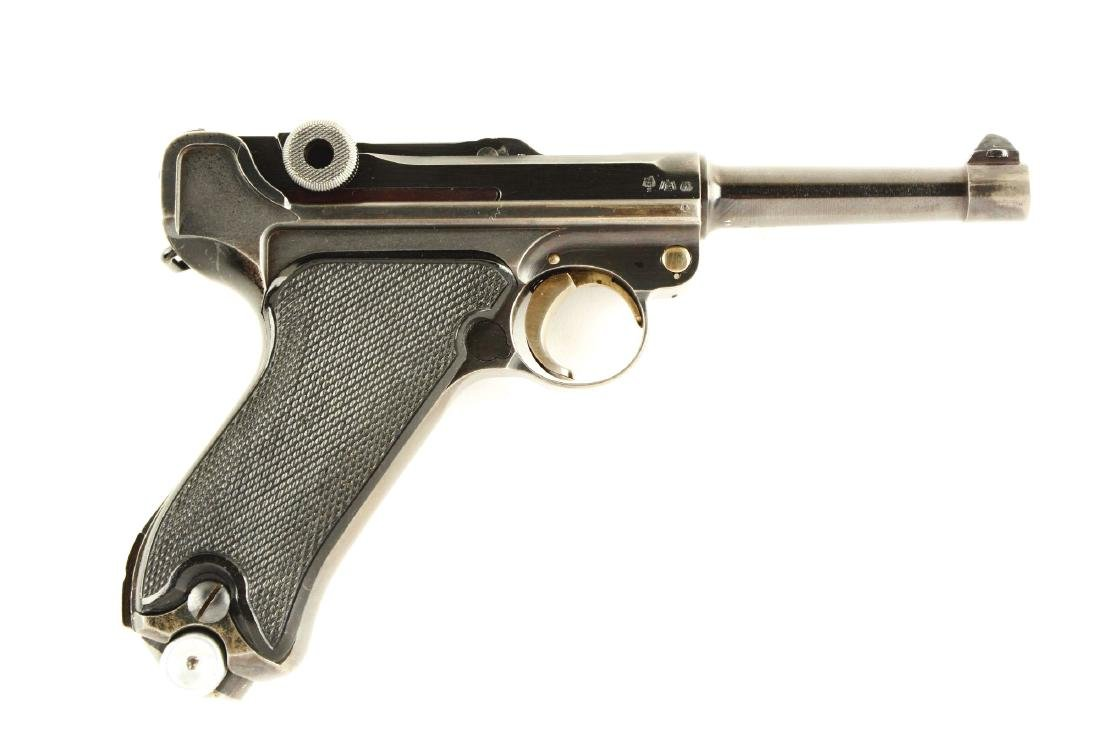 (C) Krieghoff 1941 Dated Luger Semi-Automatic Pistol.