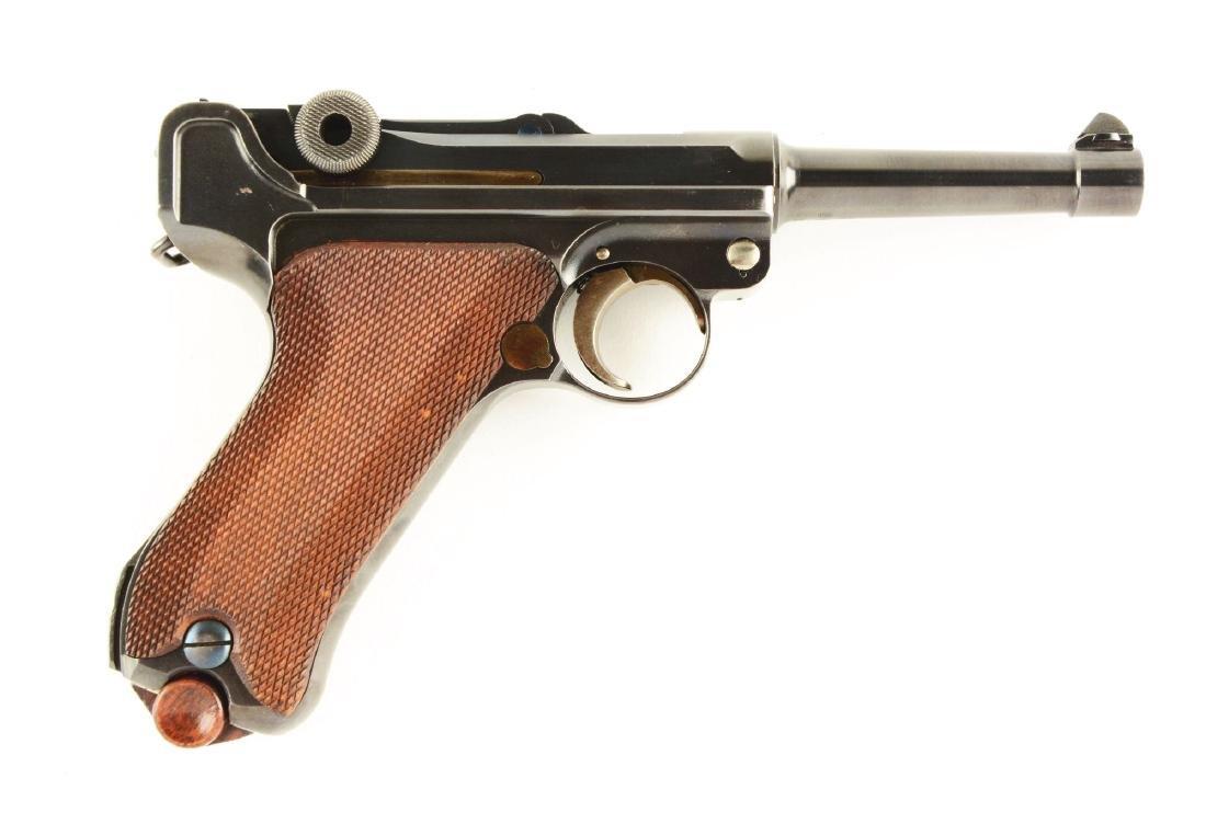 (C) 1920 Commercial DWM Luger Semi-Automatic Pistol.