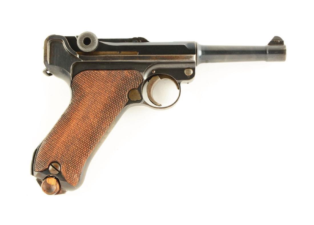 (C) DWM 1923 Commercial Luger Semi-Automatic Pistol.
