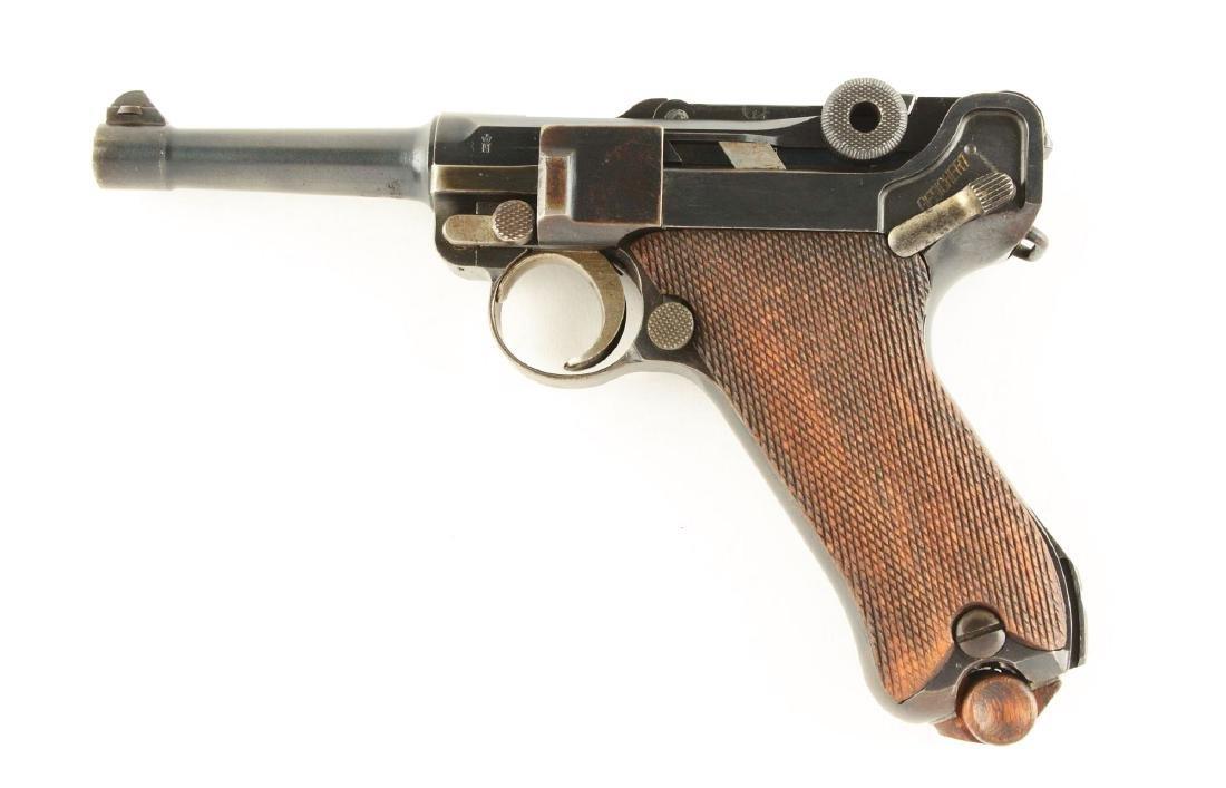 (C) DWM 1923 Commercial Luger Semi-Automatic Pistol. - 2