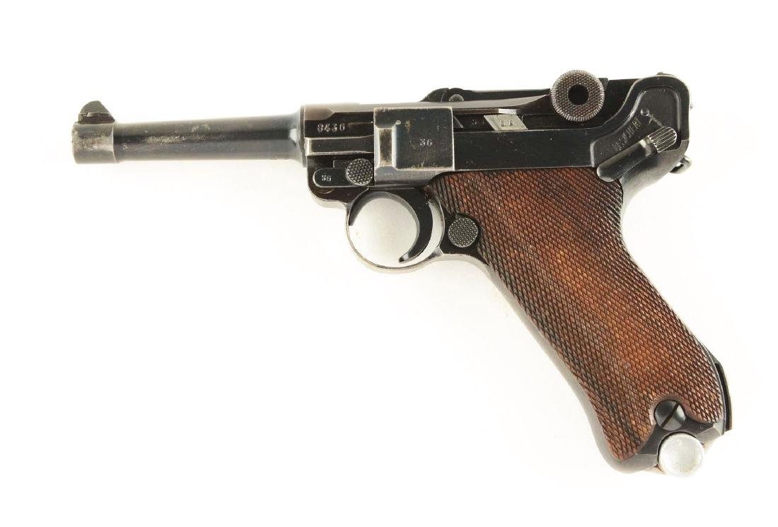 (C) Mauser S/42 1939 Dated Luger Semi-Automatic Pistol. - 2