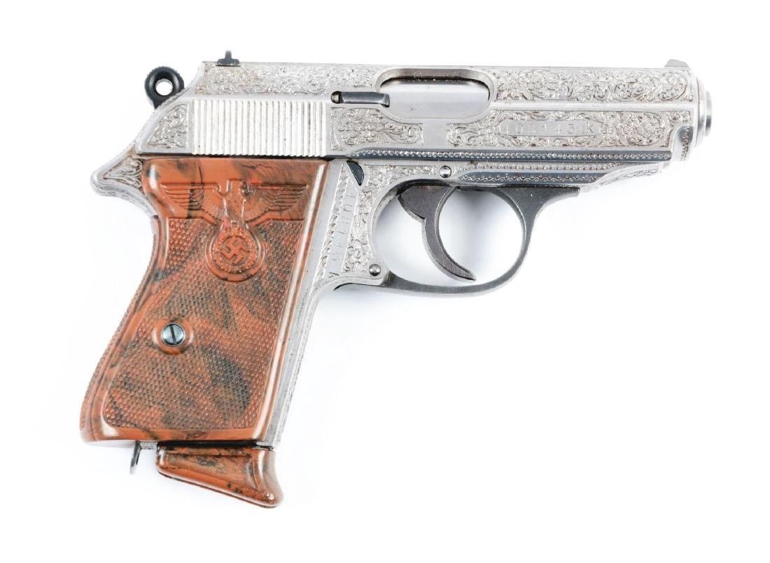(C) Engraved Walther PPK Semi-Automatic Pistol with