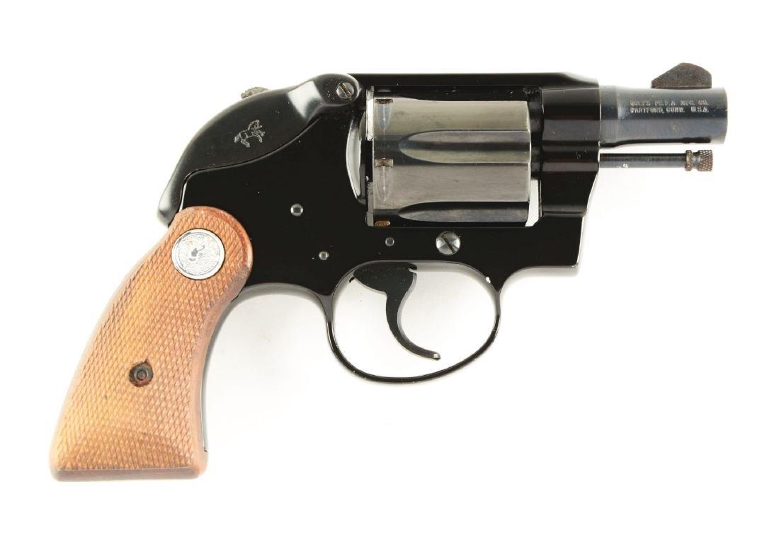 (M) Colt Agent Double Action Revolver.