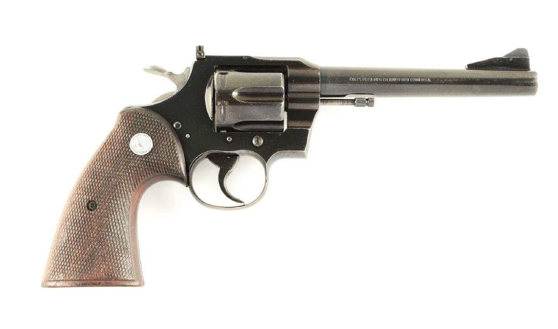 (C) Early Colt Model 357 Double Action Revolver.