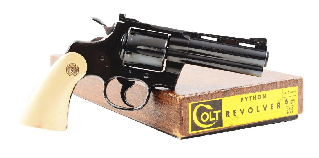 (C) Boxed Colt Python Double Action Revolver (1967).