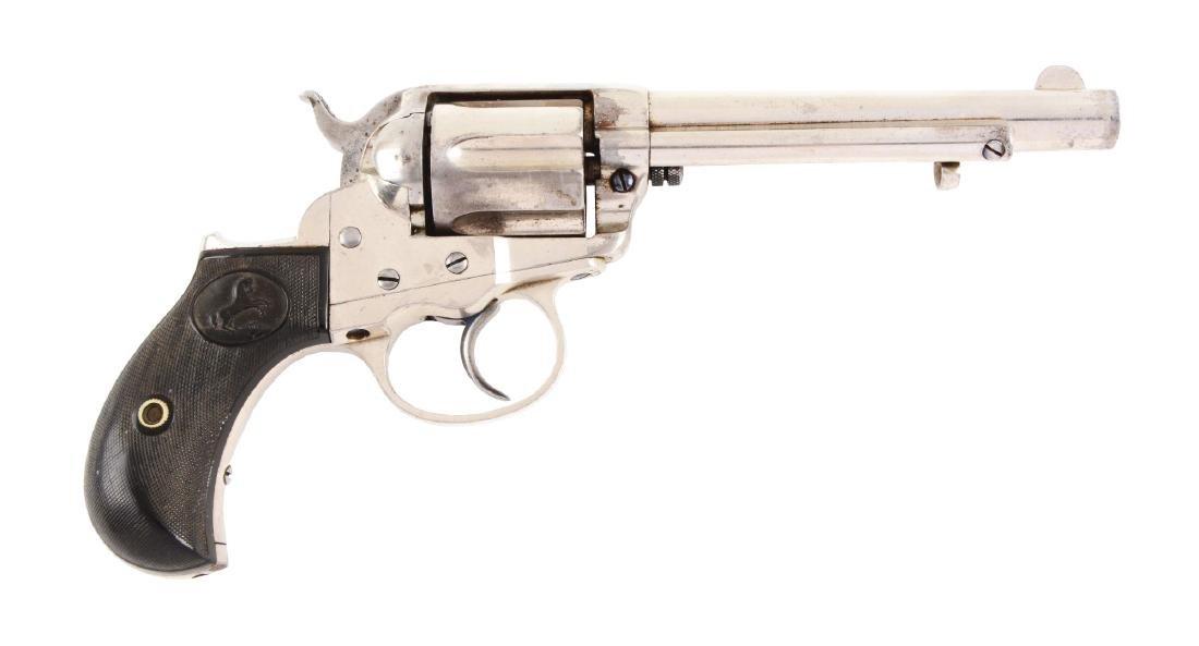 "(A) Colt Model 1877 ""Thunderer"" Double Action Revolver."