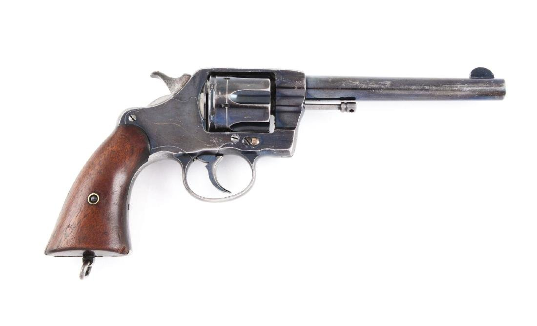(C) U.S. Colt Model 1901 Revolver with Holster.