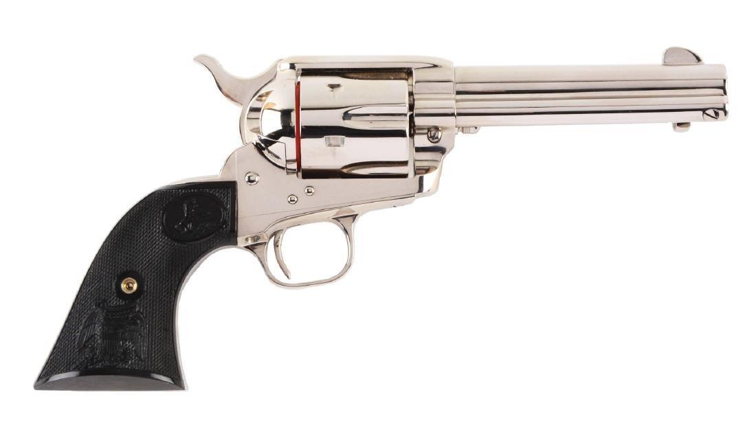 (M) MIB Colt Single Action Army .38-40 Nickel Revolver.