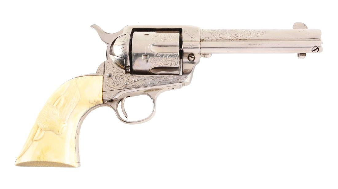 (C) Factory Engraved Colt Single Action Army Revolver