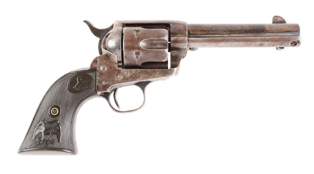 (A) Black Powder Frame Colt Single Action Army