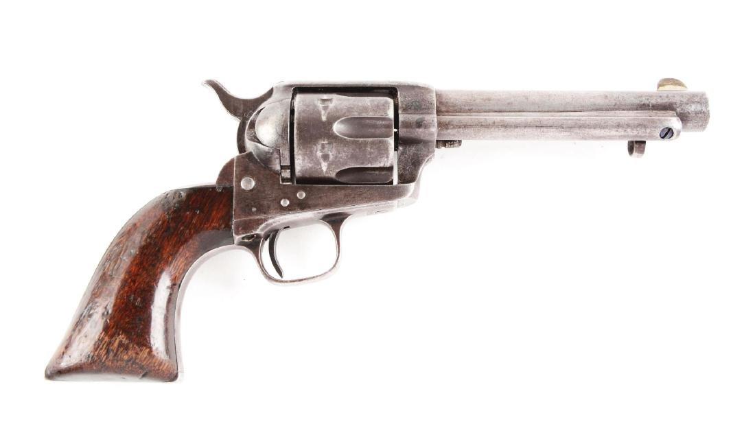(A) Antique Colt Single Action Army Revolver 1876.