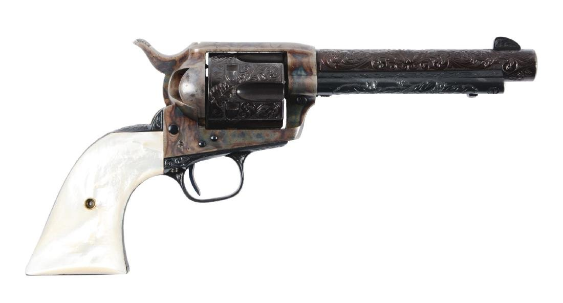 (C) Pre-War Engraved Colt Single Action Army Revolver.