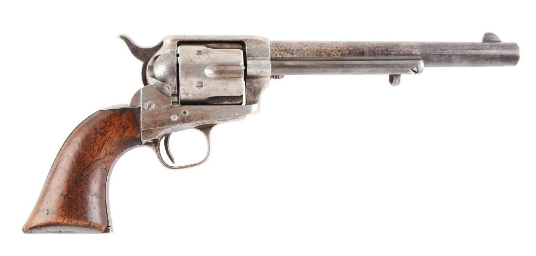 (A) U.S. Cavalry Colt Single Action Army Revolver.