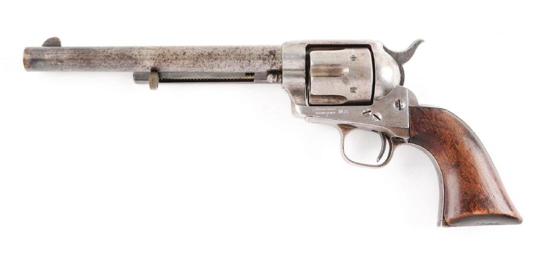 (A) U.S. Cavalry Colt Single Action Army Revolver. - 2