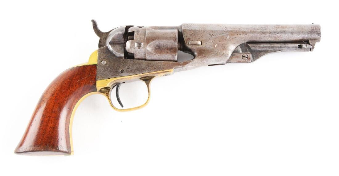 (A) Colt Model 1862 Police Percussion Revolver.