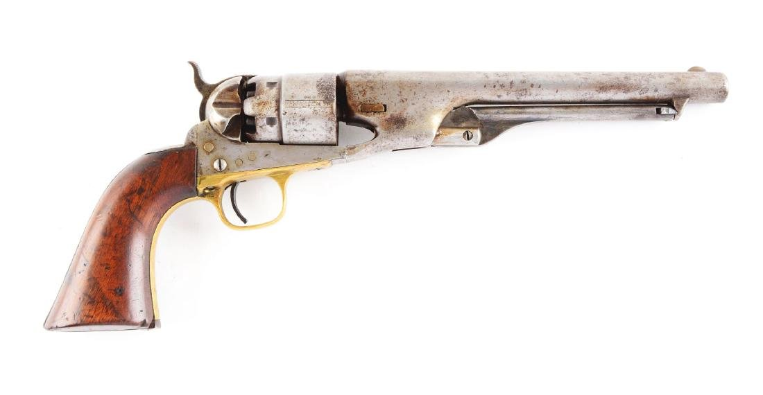 (A) Colt Model 1860 Army Percussion Revolver.