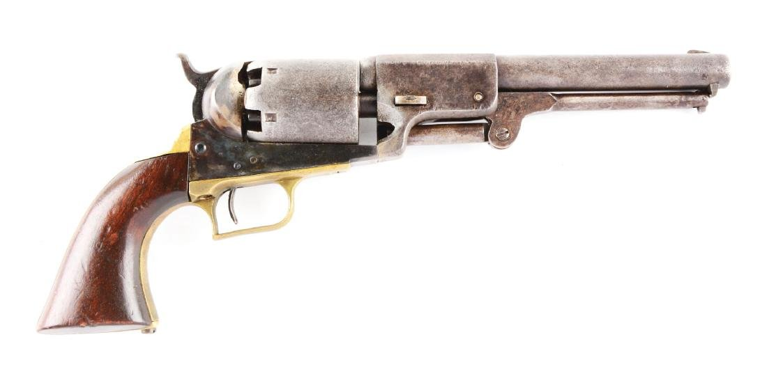 (A) Colt 3rd Model Dragoon Percussion Revolver.