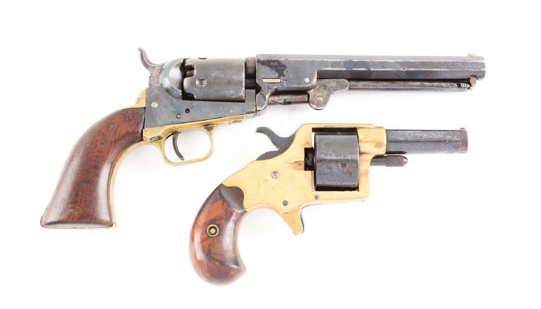 (A) Lot of 2: Antique Colt Revolvers.