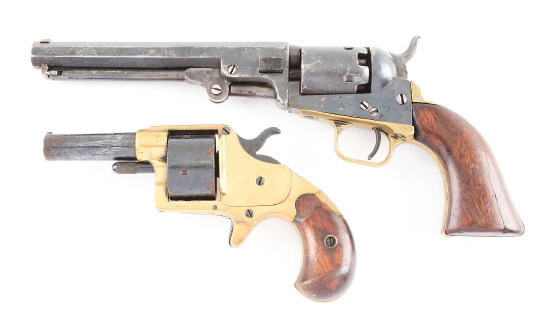 (A) Lot of 2: Antique Colt Revolvers. - 2