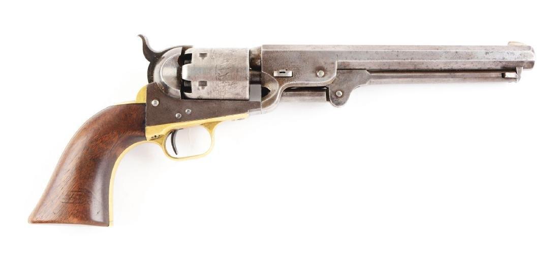 (A) Martially Marked 1851 Colt Navy 3rd Model Revolver.