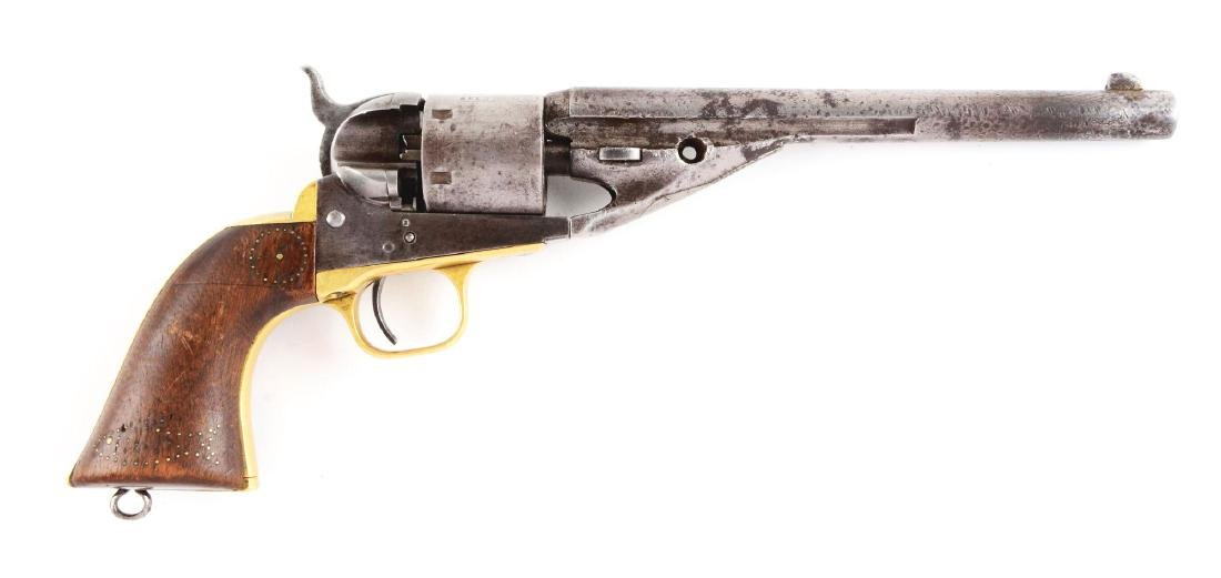 (A) Colt 1861 Navy Conversion Revolver with Holster.