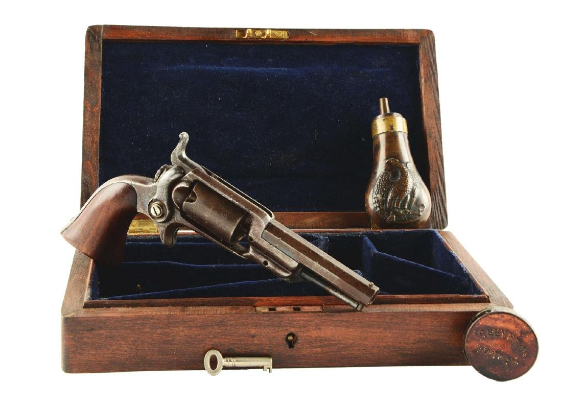 (A) Cased Colt Root Spur Trigger Percussion Revolver.