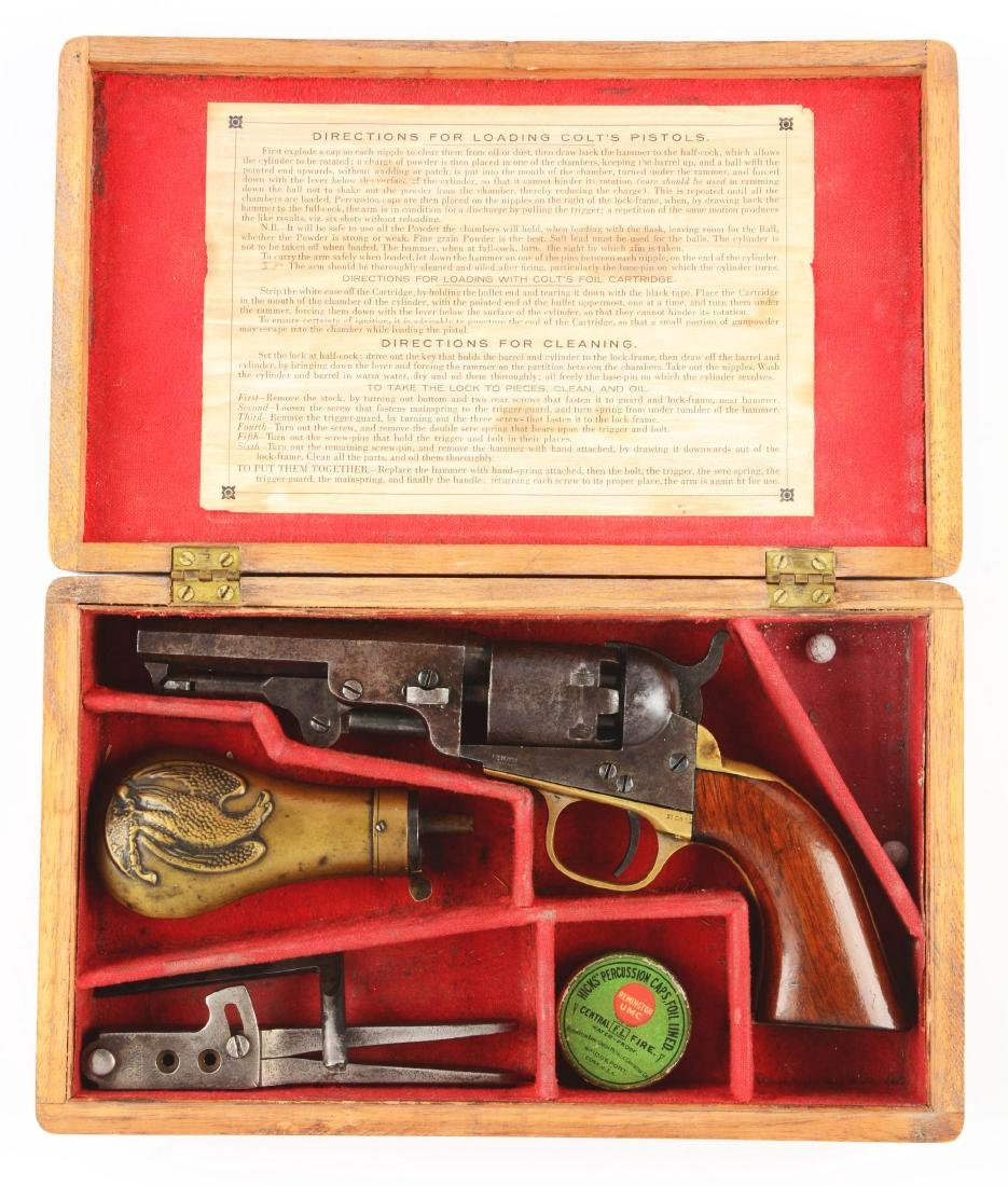 (A) Cased Colt 1849 Pocket Single Action Percussion