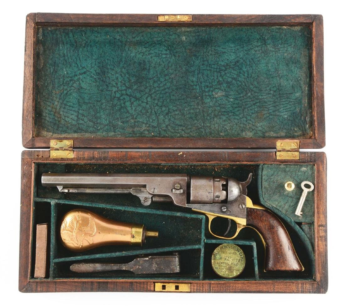 "(A) Cased Colt Model 1862 6 - 1/2"" Percussion Revolver."