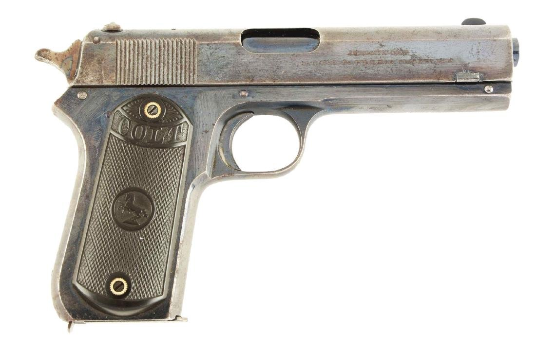 (C) Colt 1903 Pocket Hammer Semi-Automatic Pistol.