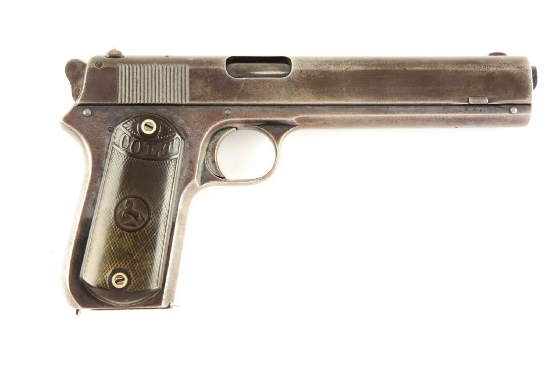 (C) Colt 1902 Sporting Model Semi-Automatic Pistol.