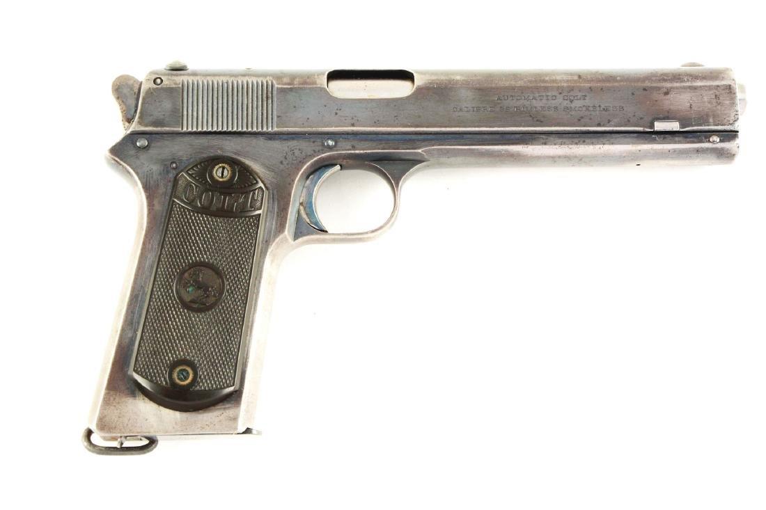 (C) Colt 1902 Military Model Semi-Automatic Pistol.