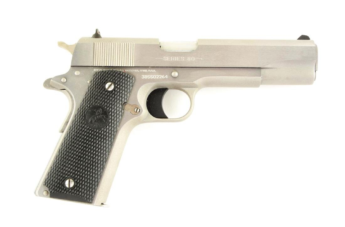 (M) Boxed Colt Model 1911 Series 80 .38 Super Stainless