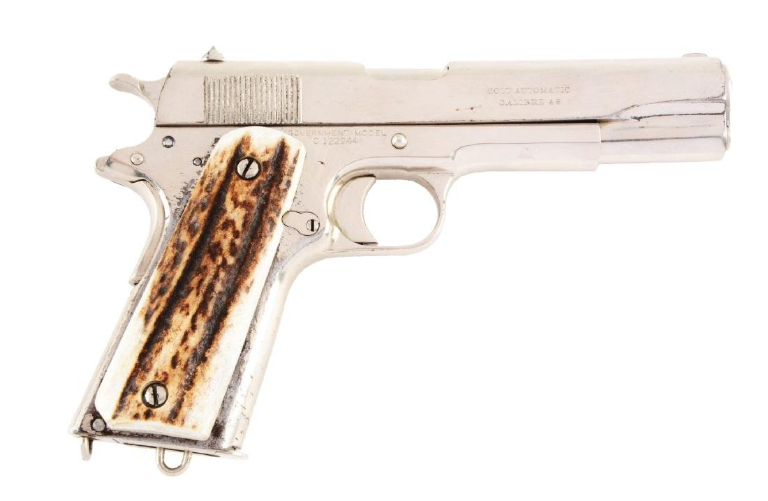 (C) Plated Colt Commercial Model 1911 Semi-Automatic