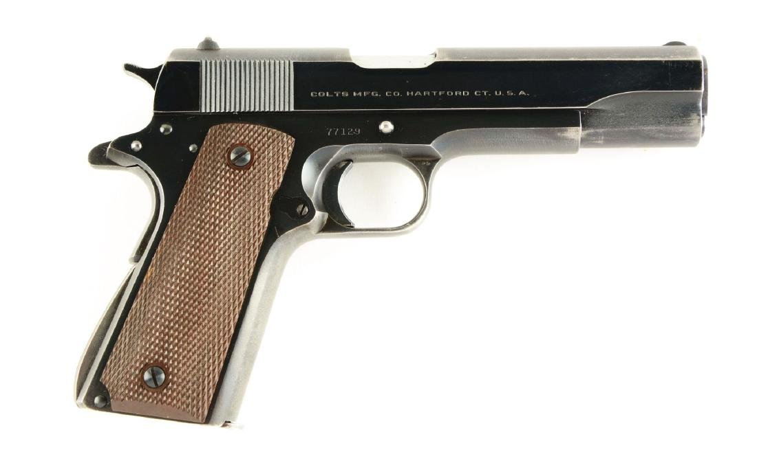 "(C) Early Post-War Colt Model 1911 ""Fat Barrel"" .38"