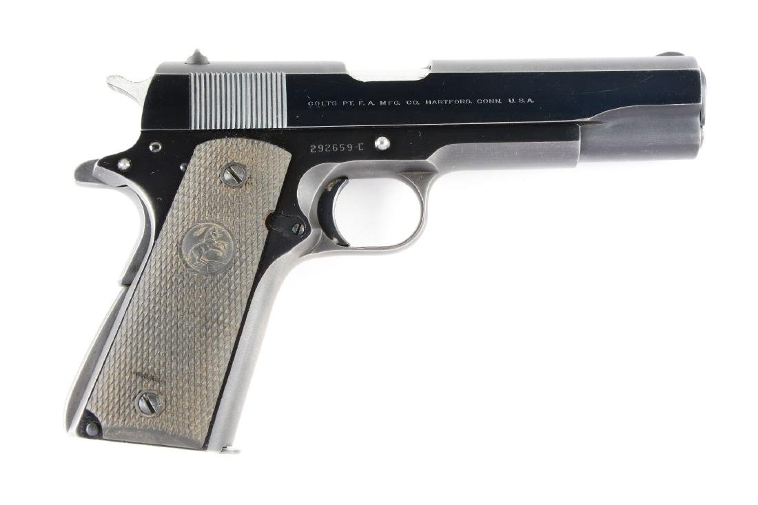 (C) Colt Model 1911-A1 Semi-Automatic Pistol with .22