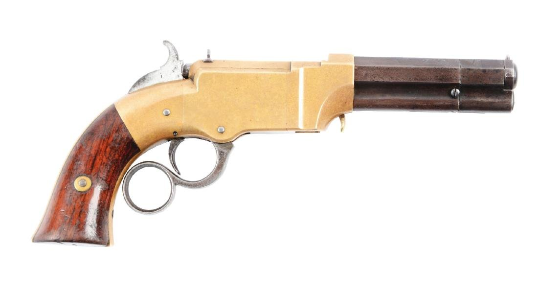 (A) New Haven Arms Volcanic Lever Action Pistol.