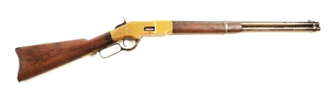 (A) Winchester Model 1866 Lever Action Carbine.