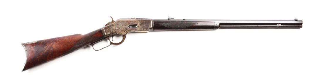 (A) Deluxe Winchester 1873 Lever Action Rifle (1883).