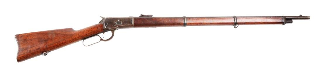 (A) Winchester Model 1892 Lever Action Musket.