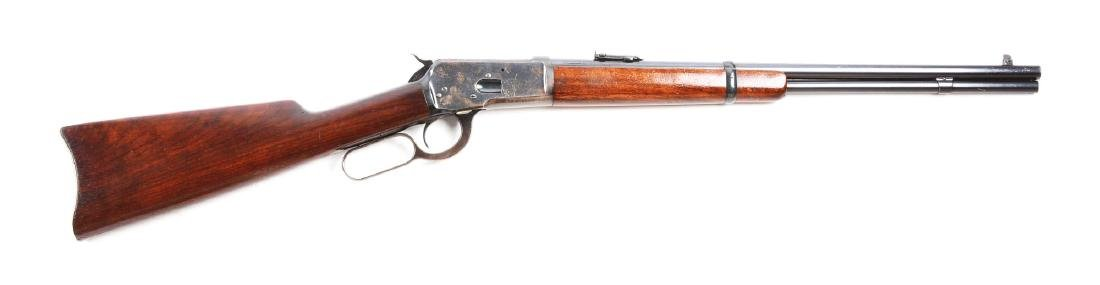 (C) Winchester Model 1892 Saddle Ring Carbine.
