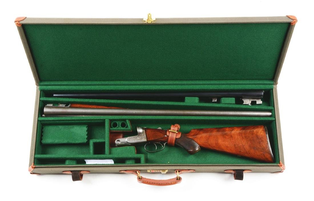 (A) Cased Parker Bros. Model G Double Barrel Hammerless